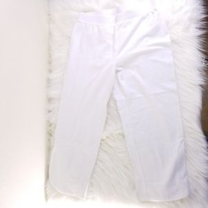 Chico's Weekends White Capri Lounge Pants